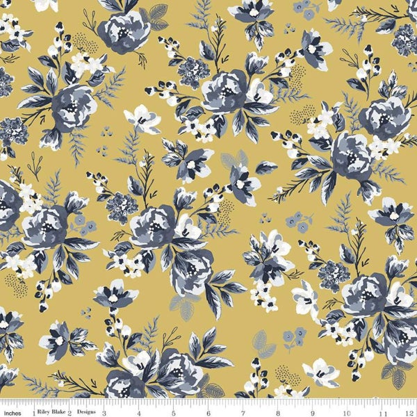 Riley Blake  Gingham Foundry Floral Honey - 1 Yard
