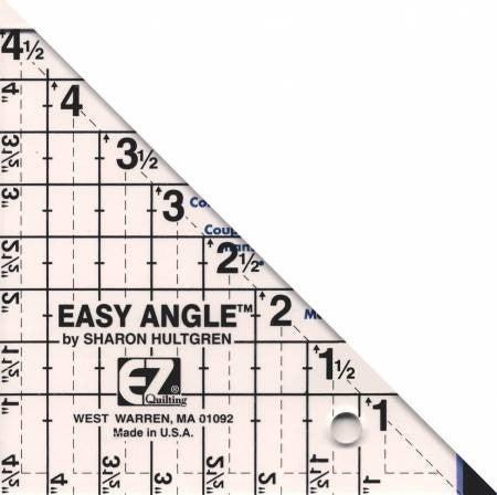 """Ruler:  Easy Angle 4 1/2"""" 45 Deg."""