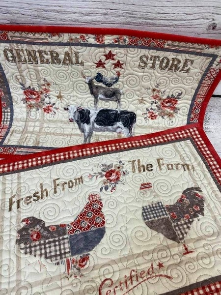 Kit:  Farmhouse Chic Placemats (Top Fabric, binding and Backing)