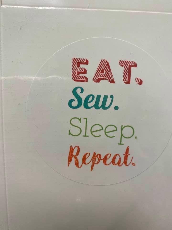 Fat Quarter Card Eat Sew Sleep Repeat