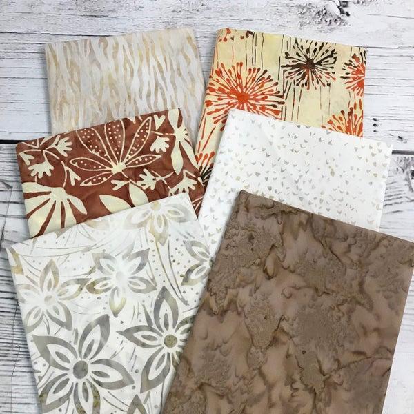 FQ Bundle (6) Batik Neutrals