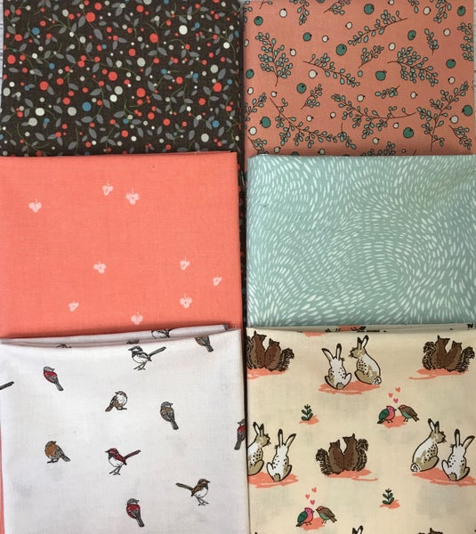 Fat Quarter Bundle (6) Wildlife Friends