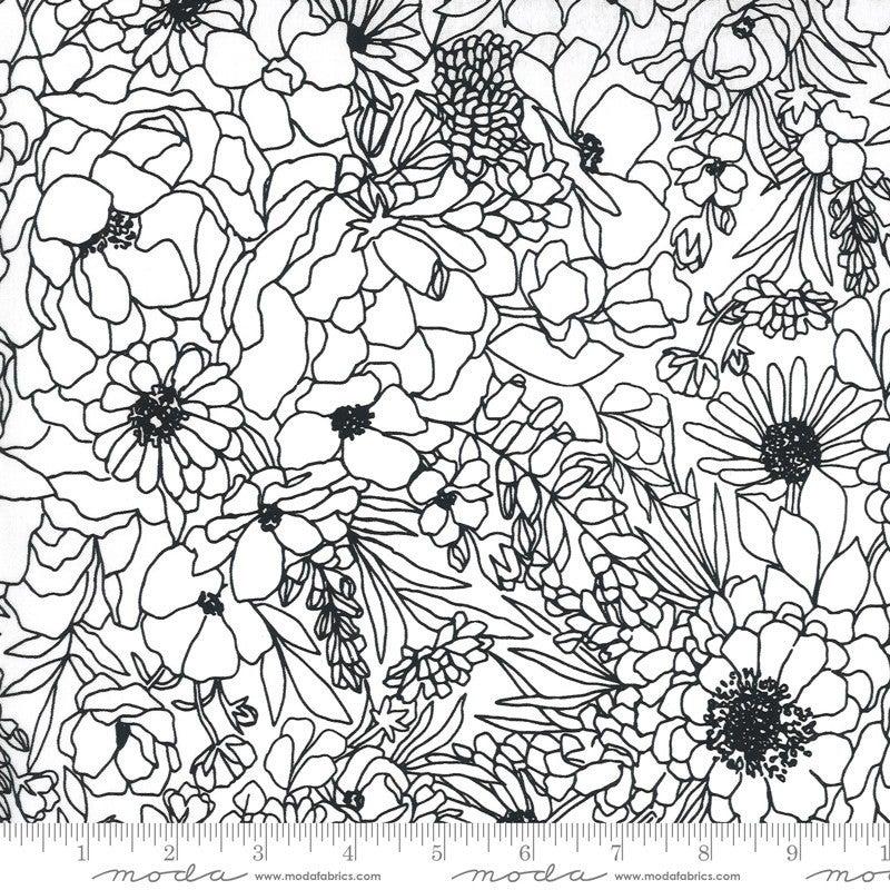 Backing for Love Sweet Love 5 Yards Illustrations White/Black