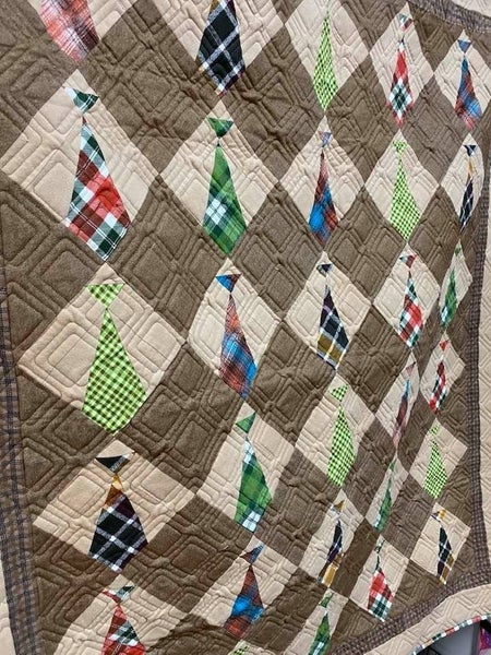 """Daddy's Ties Flannel Kit (Includes Free Pattern) 52 x 60"""""""