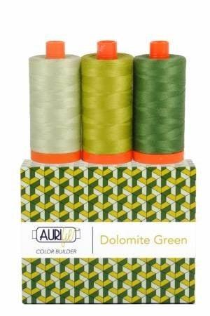 Color Builder Aurifil Dolomite Green