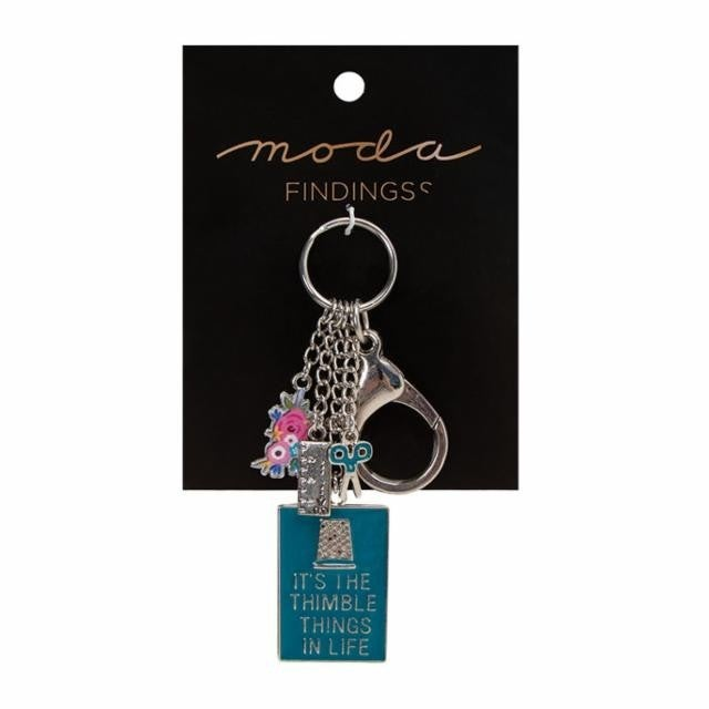 Moda Findings:  Key Chain Thimble Things