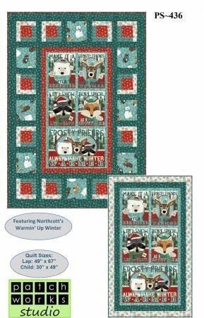 """Kit: Frosty Friends Flannel 49"""" x 67"""""""