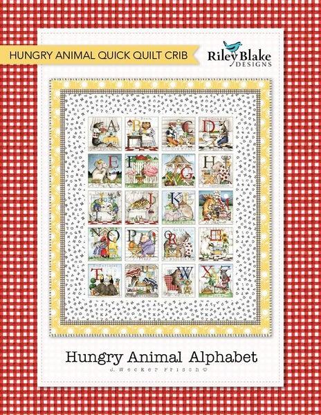 "Kit:  Hungry Animal Alphabet  49"" x 57"""