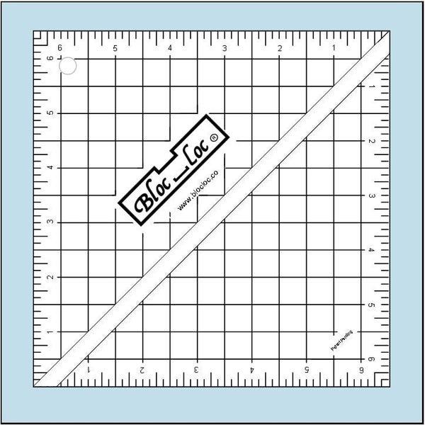 """Half-Square Triangle Ruler 6 1/2"""" x 6 1/2"""""""