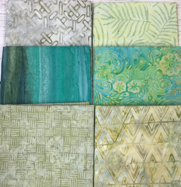 Fat Quarter Bundle (6) Batik Surf and Sand