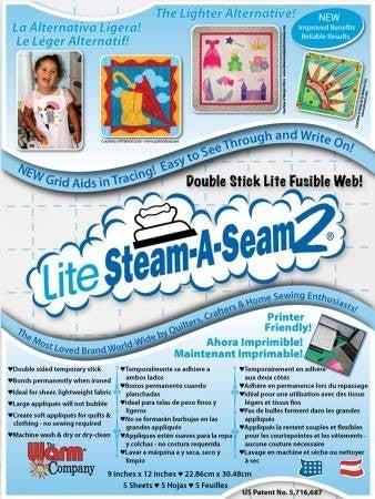 Steam A Seam Lite Pack (5) 9x12 Sheets