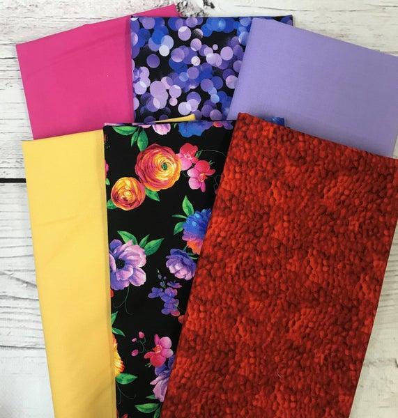 Six Half Yard Cuts - Bright Flowers