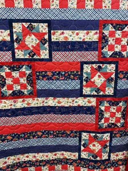 Kit:  Ticket to Quilt March (Incl. top/binding/pattern)