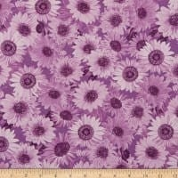 "Wideback 108"" Sunflower Whispers One Yard Violet"