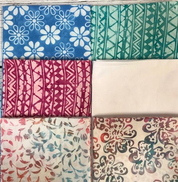 FQ Bundle (6) Pastel Batik