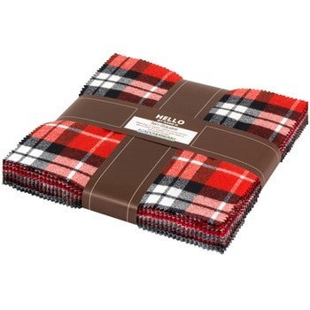 Layer Cake Flannel Red/Black/Grey/White