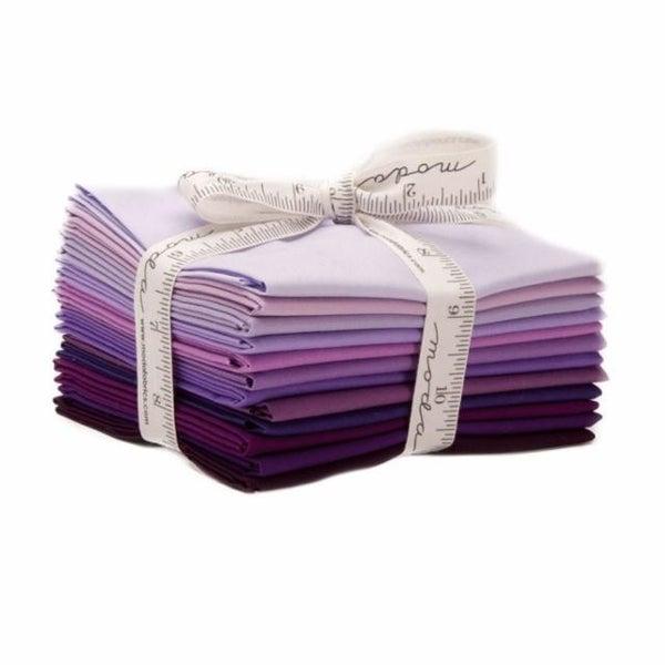 Bella Solids Fat Quarter BUndle Purples (12)