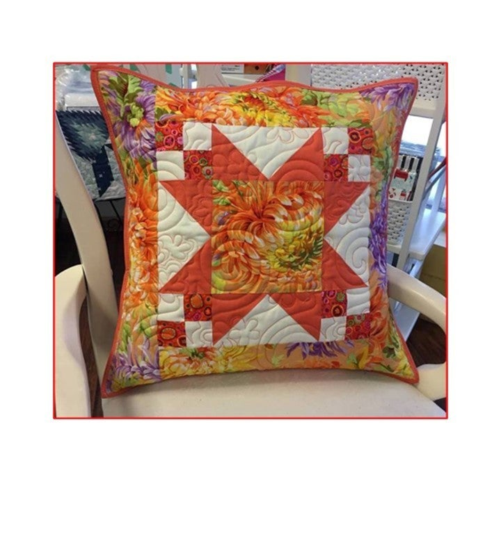 "Kit:  Star of Kaffe Pillow  20"" Sq.  Mint Cabbage"