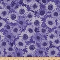 "Wideback 108"" Sunflower Whispers One Yard Purple"