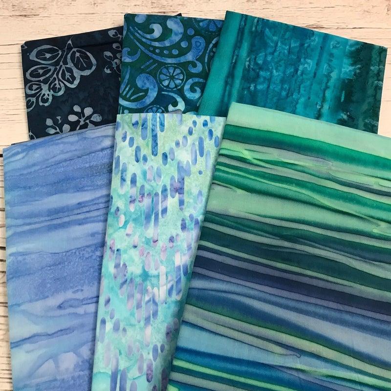 FQ Bundle (6) Aqua Batik