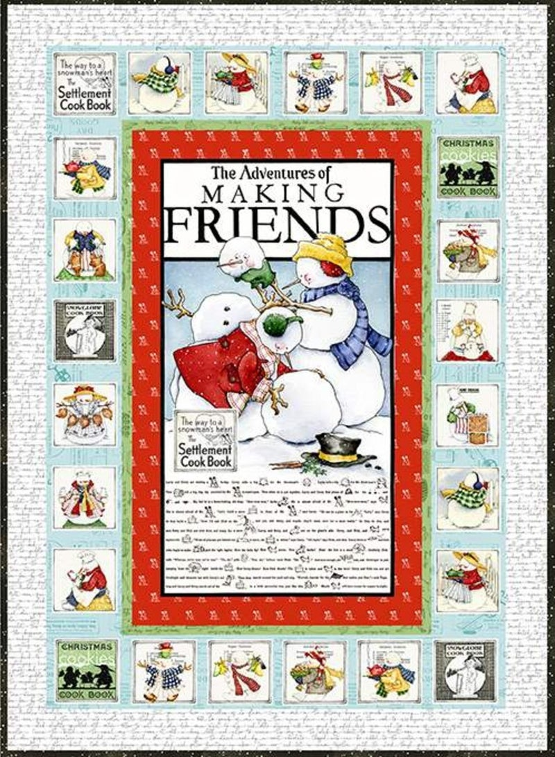 "Kit:  Snow Sweet Advent Quilt   55"" x 77.5"""