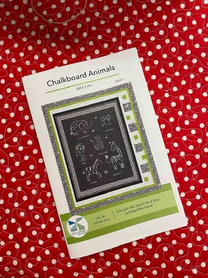 Pattern:  Chalkboard Animals Crib to Twin Size *Final Sale*