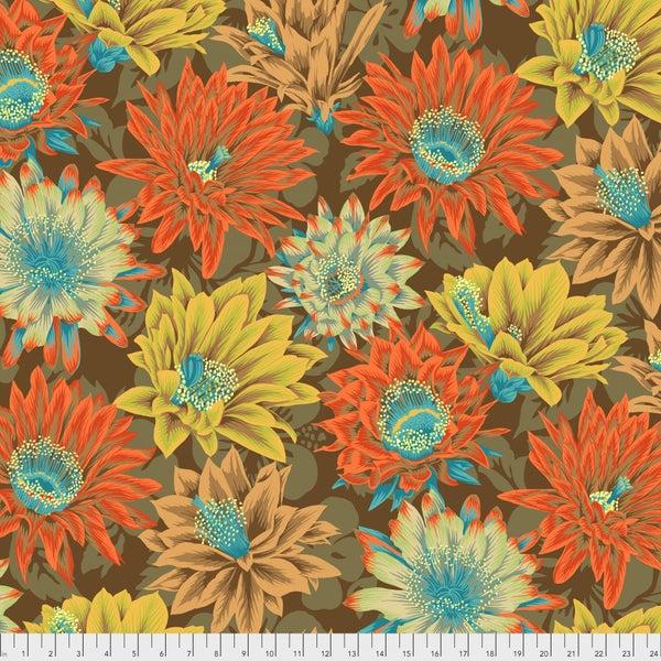 Kaffe -  Cactus Flower - Brown - One Yard Cut
