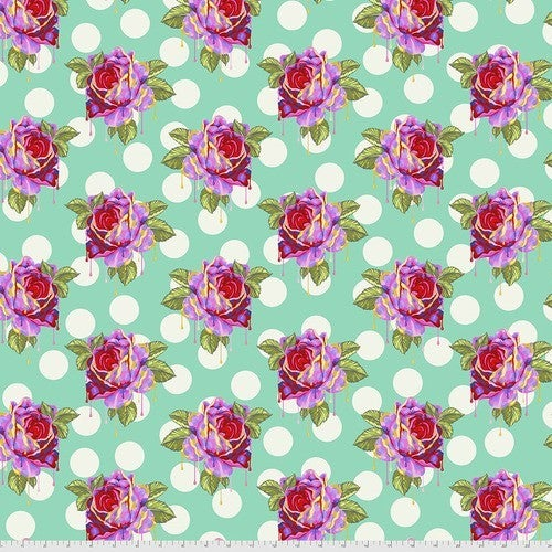 """Tula Curiouser 42"""" One Yard Painted Roses WOnder"""
