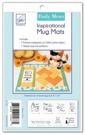 Pattern: Daily Mews Inspirational Mug Mats