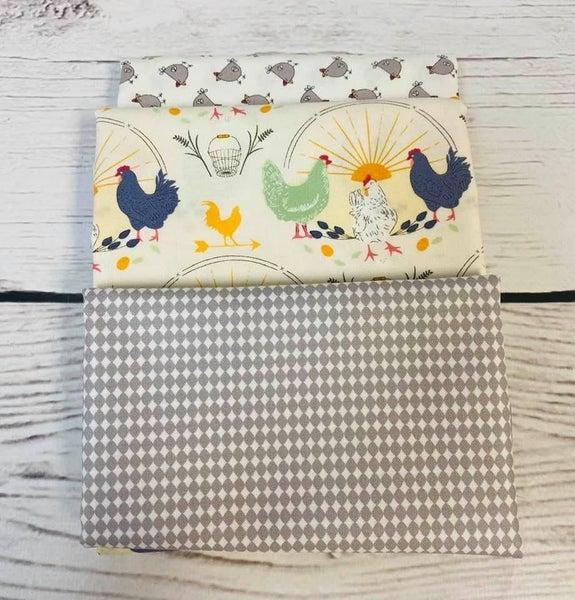 Kit:  June Tailor Lunchbox Good Morning (Need Batting/Zipper Kit)