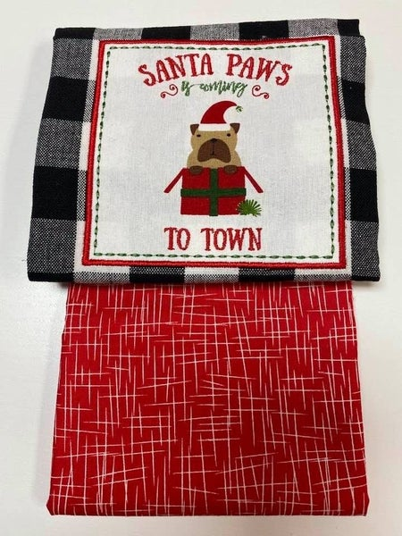Kit:  Towel Cowl Santa Paws