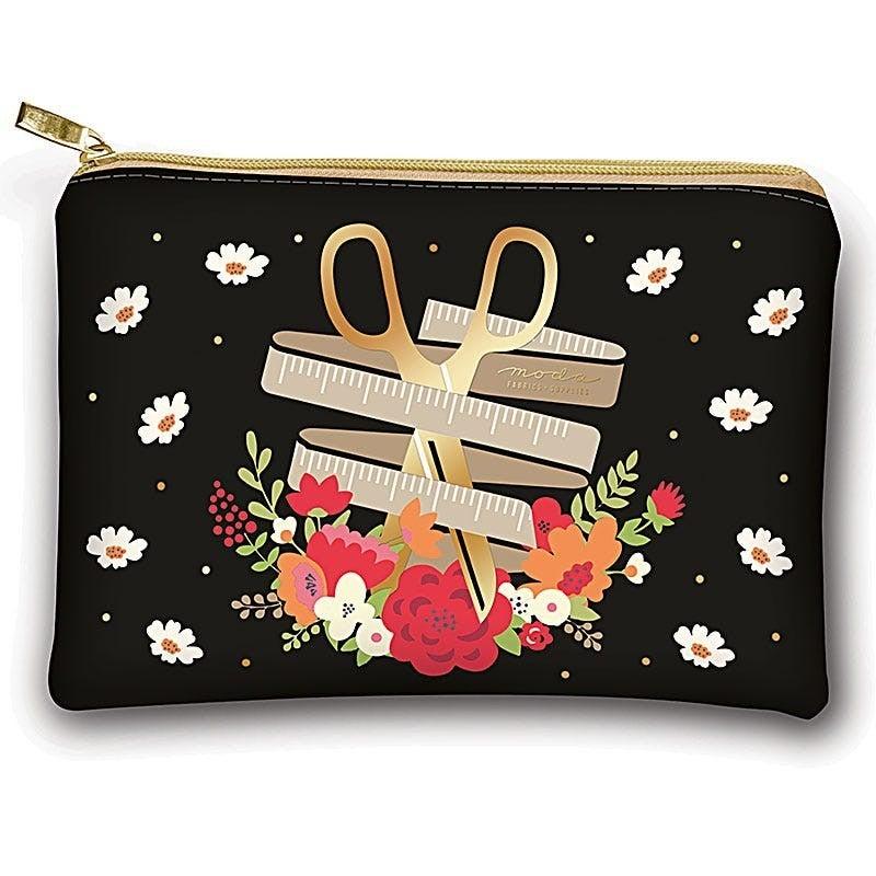 Floral Scissors Glam Bag