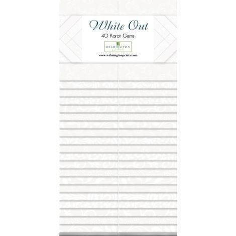 "Essential Gems (40) 2 1/2"" Stripe White-Lite"