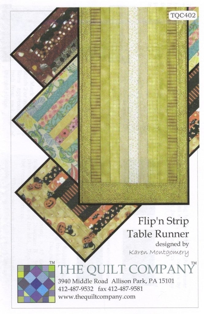 "Pattern:  Flip N'Strip Table Runner 16"" x 46"" *Final Sale*"