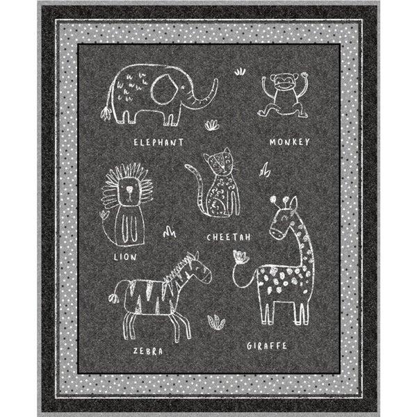 """Panel Chalkboard Animal 36"""" x 42"""""""