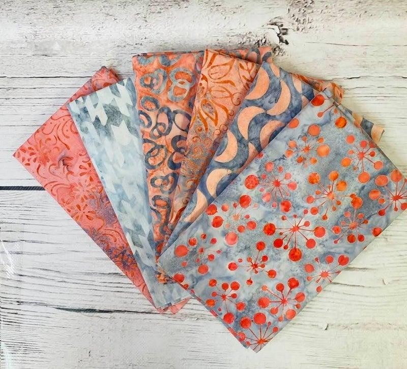 Batik Bundle Six Half-Yard Cuts Moondust