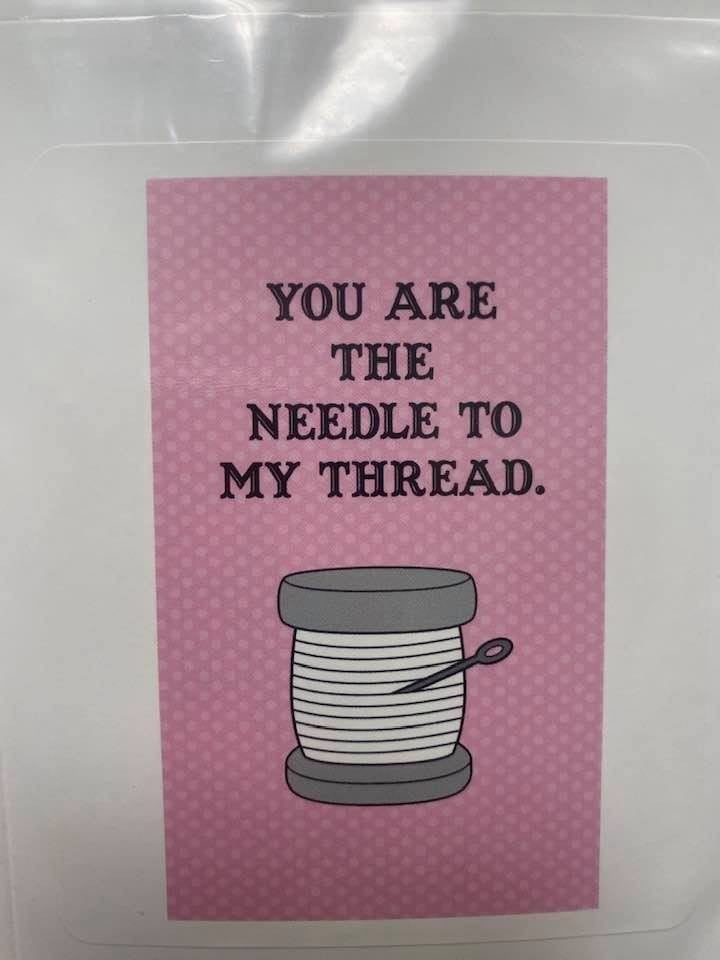 Fat Quarter Card Needle to Thread