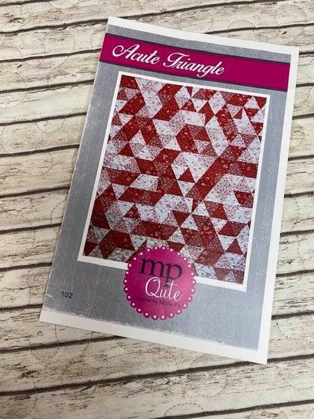 "MP Qute Pattern:  Acute Triangle 31"" x 39"" *Final Sale*"