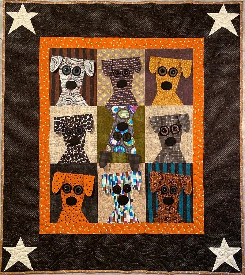 """Pattern: Dog Daze 55"""" x 50"""""""