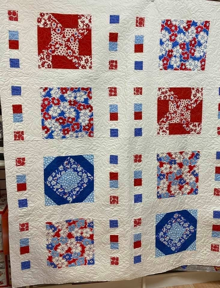 Kit:  Ticket to Quilt Quilt Red/White/Blue