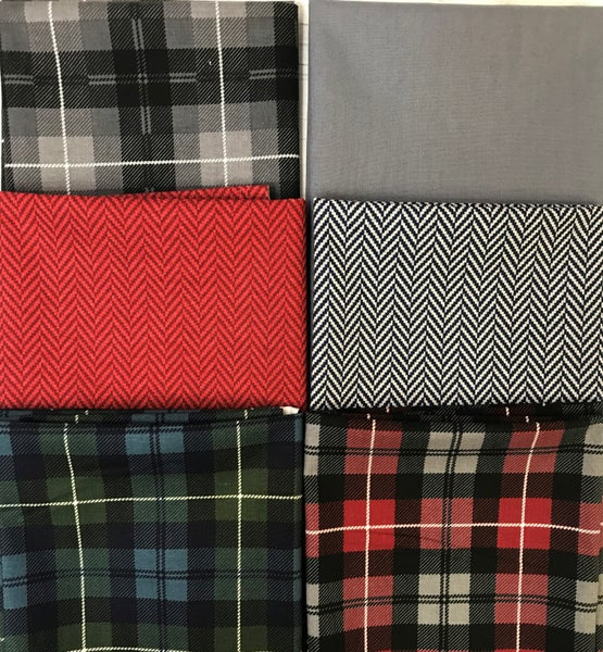 Fat Quarter Bundle (6) Plaids