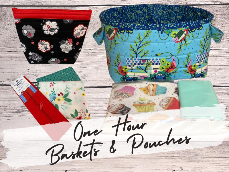 One Hour Baskets & Pouches