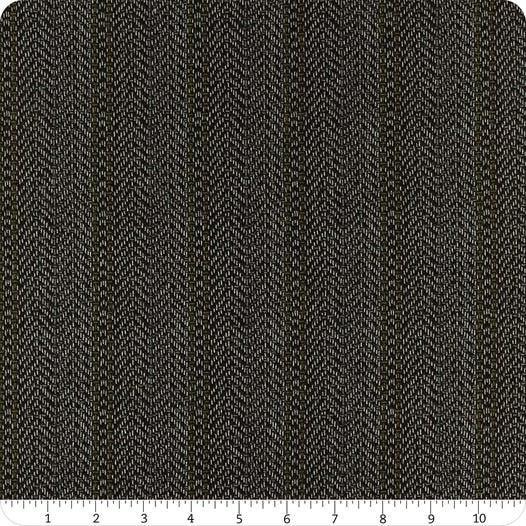 Moda Yuletide Gathering Flannel Coal Herringbone - 1 yard