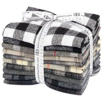 Fat Quarter Bundle:  (10) Mammoth Flannel Black