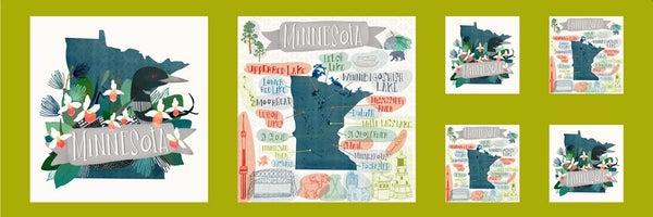 Lakeside Minnesota Panel  3/8th Yard