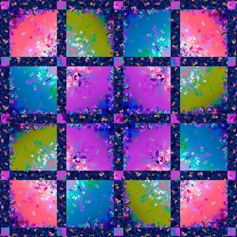 """Kit:  Bright Side Quilt 50"""" x 50"""""""