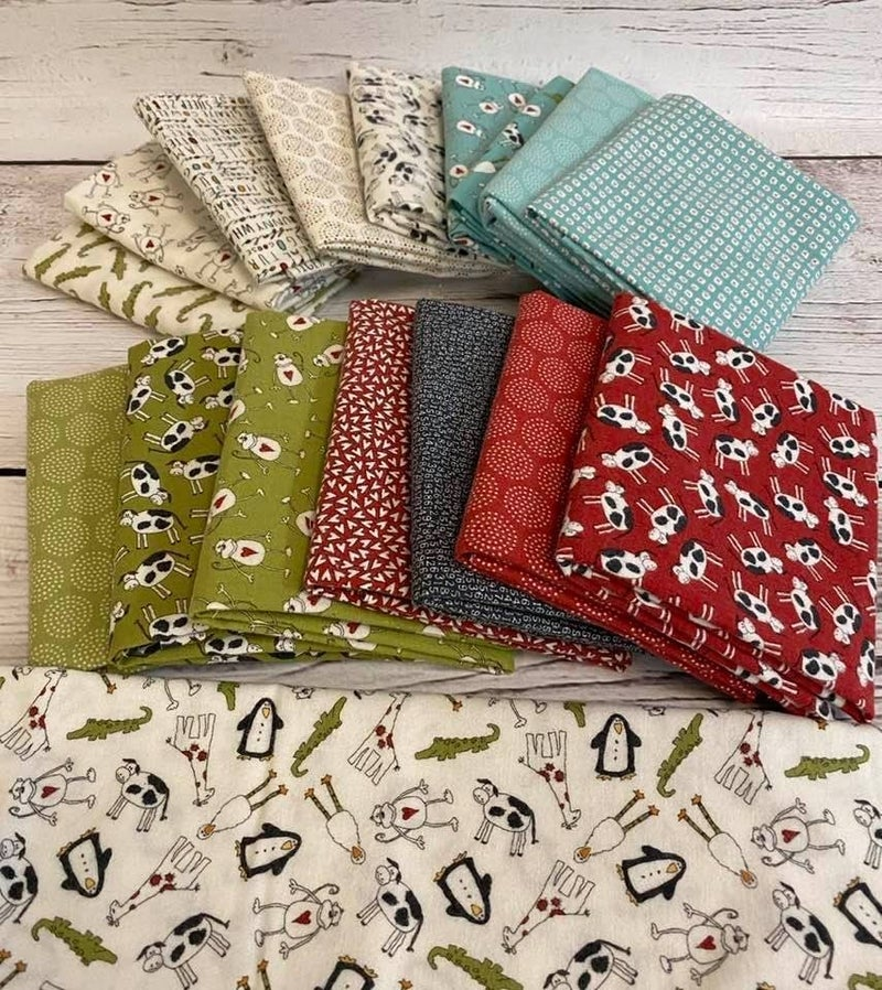 Moda's Animal Crackers Flannel FQs (17)