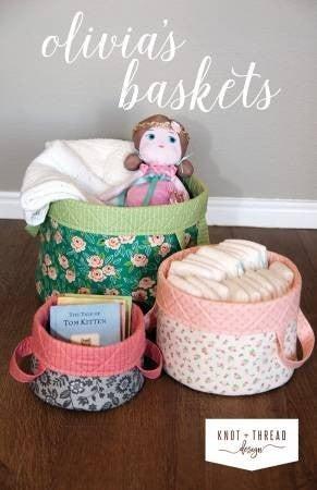Pattern:  Olivia's Basket *Final Sale*