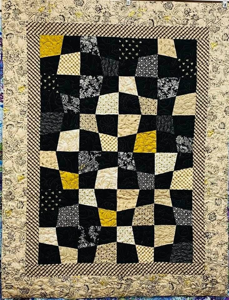 """Kit:  Around the Bend (Ptrn Inc.) (Need Straight out of Line Ruler)  40"""" x 55"""""""