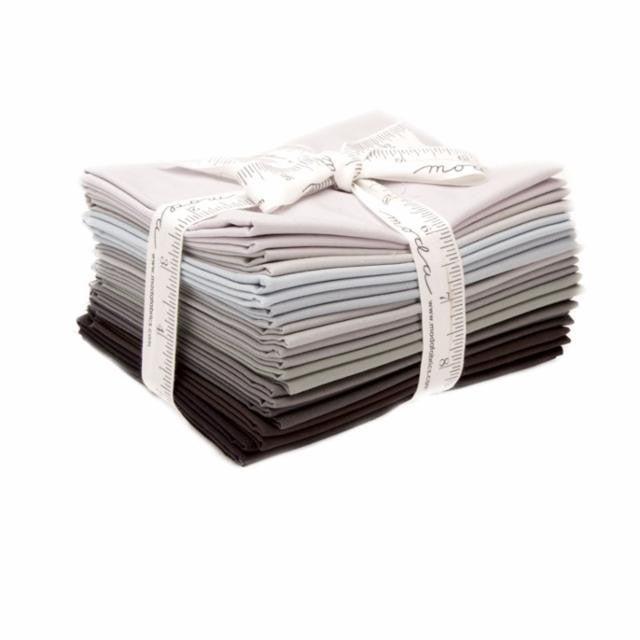 Bella Solids FQ Bundle (12) Greys